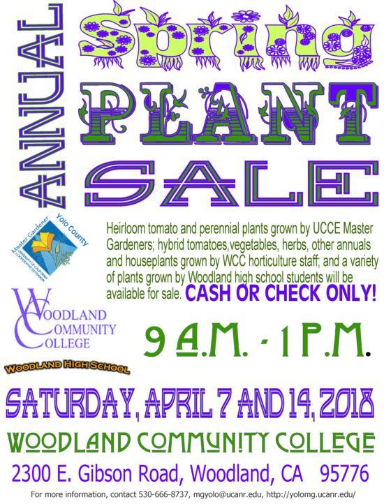 spring plant sale WCC 2018